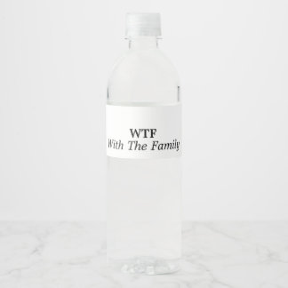 With The Family Water Bottle Label