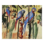 With the Parrots I by August Macke Poster