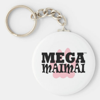 With the Paw color Pink Basic Round Button Key Ring