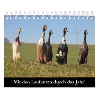 With the run ducks by the year! calendar