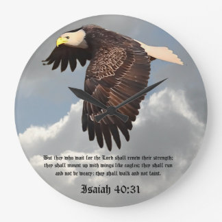 WITH WINGS AS EAGLES WALLCLOCK