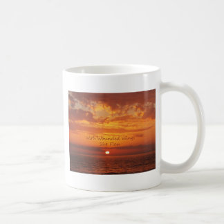 With Wounded Wings She Flew Encouragement Coffee Mug