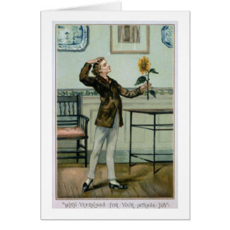 With Yearnings For Your Intense Joy, Victorian Chr Greeting Card
