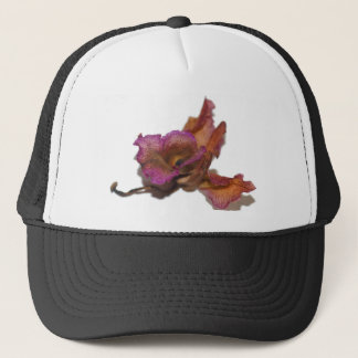 Withering orchid trucker hat