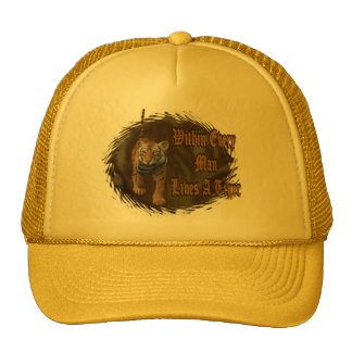 Within Every Man Lives A Tiger Mesh Hats