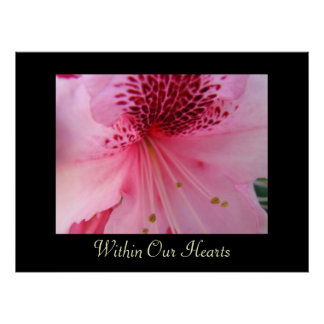 Within Our Hearts art prints Pink Rhododendron