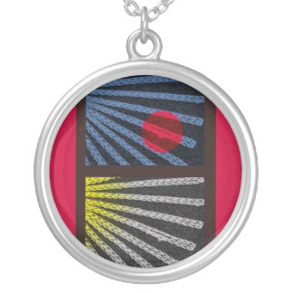 Within Reach (red) Round Pendant Necklace