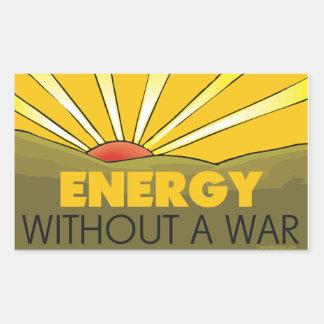 Without A War Solar Rectangular Sticker
