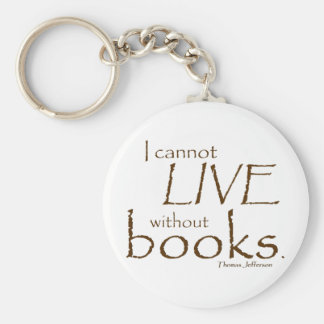 Without Books Basic Round Button Key Ring