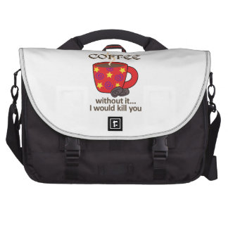 WITHOUT COFFEE LAPTOP MESSENGER BAG