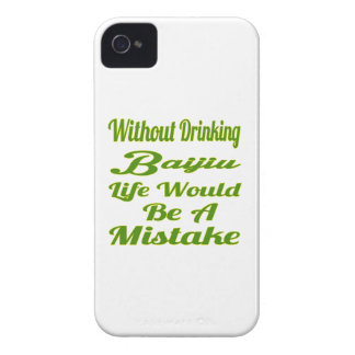 Without drinking Baijiu life would be a mistake Case-Mate iPhone 4 Case