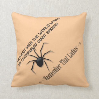 """Without Men"" Cushion - Funny Quote Design"