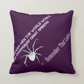 """Without Men"" Cushion inverted- Funny Quote Design"