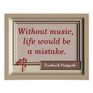 Without Music II - Nietzsche Quote - Print