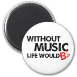 Without Music Life would B (be) Flat