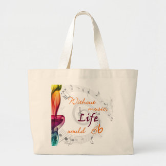 Without Music, Life Would Bb... Jumbo Tote Bag