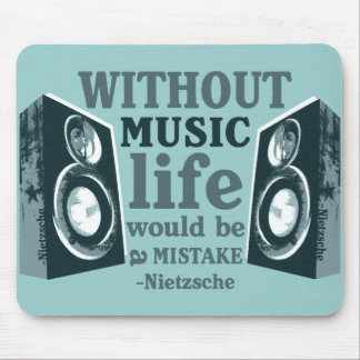 Without Music... Mouse Mat
