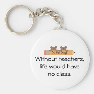 Without teachers, basic round button key ring