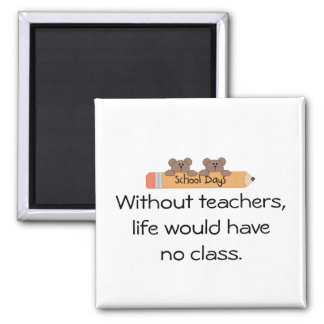 Without teachers, square magnet