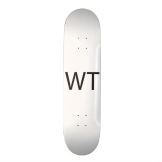 Without Thinking -or- What The -or- Who The.ai Skate Deck