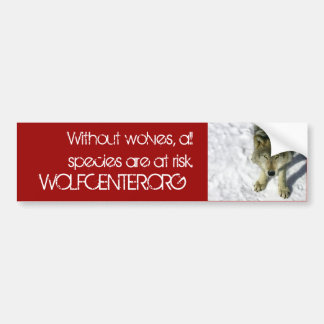 Without Wolves Bumper Sticker