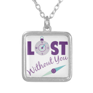 Without You Square Pendant Necklace