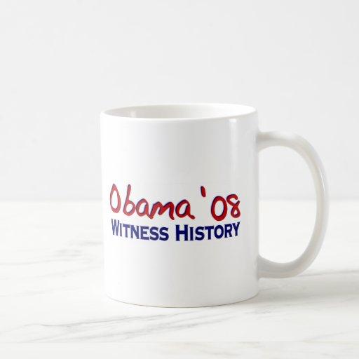 Witness History Obama 08 Mugs