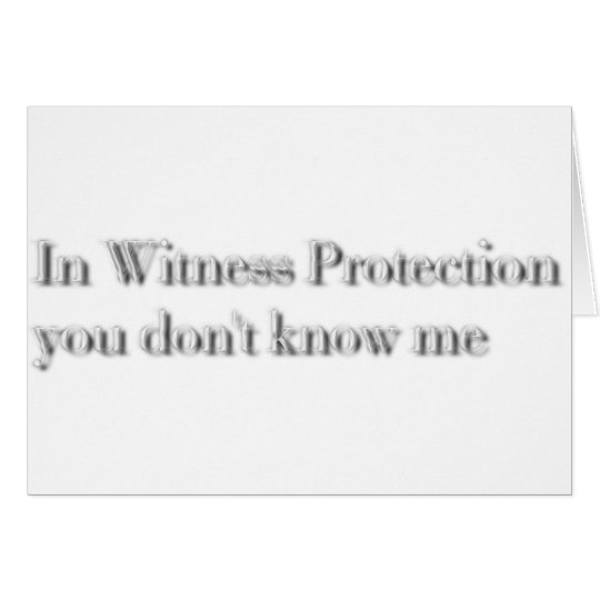 witness protection card