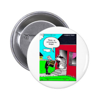 Witness The Badger Funny Mugs Cards Tees & Gifts 6 Cm Round Badge