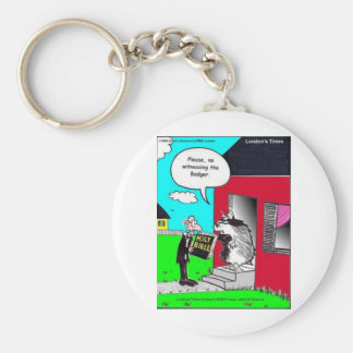 Witness The Badger Funny Mugs Cards Tees & Gifts Key Ring