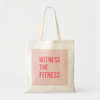 Witness The Fitness Exercise Quote Pink