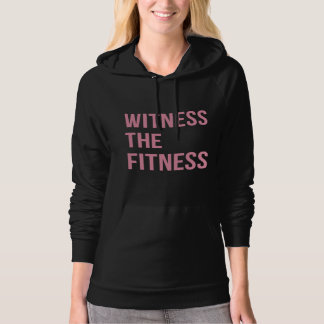 Witness The Fitness Gym Quote Black Pink Hooded Pullovers