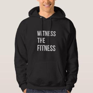 Witness The Fitness Gym Quote Dark White Sweatshirt