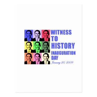 Witness to history: Obama Inauguration Postcard