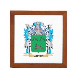 Witten Coat of Arms - Family Crest Desk Organisers