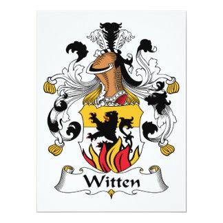 Witten Family Crest 17 Cm X 22 Cm Invitation Card