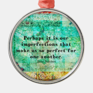 Witty Jane Austen quote Christmas Ornament