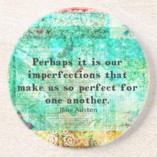 Witty Jane Austen quote Coaster