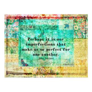 Witty Jane Austen quote Postcard