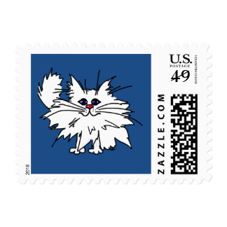 Witty Kitty Postage Stamps
