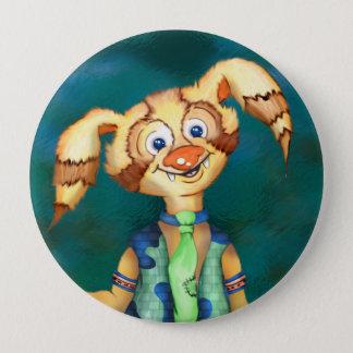 WITTY PITTY ALIEN CARTOON  Button Huge, 4 Inch