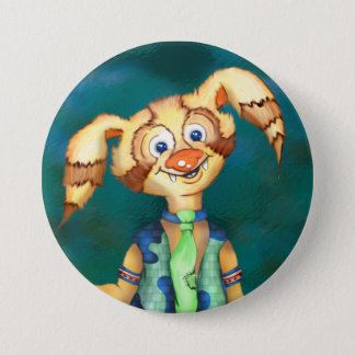 WITTY PITTY ALIEN CARTOON  Button Large, 3 Inch
