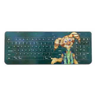 WITTY PITTY CUTE CARTOON Custom WirelessKeyboard Wireless Keyboard