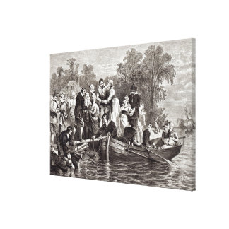 Wives for the Settlers at Jamestown Stretched Canvas Prints