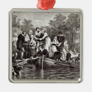 Wives for the Settlers at Jamestown Silver-Colored Square Decoration