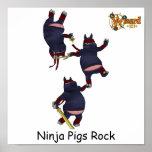 Wizard101 Ninja Pigs Poster