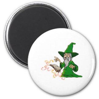 wizard 6 cm round magnet