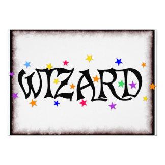 Wizard and Stars 13 Cm X 18 Cm Invitation Card