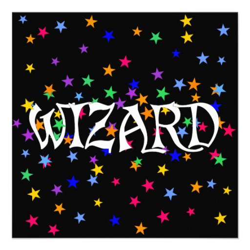 Wizard and Stars Custom Invitations