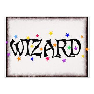 Wizard and Stars Invitation